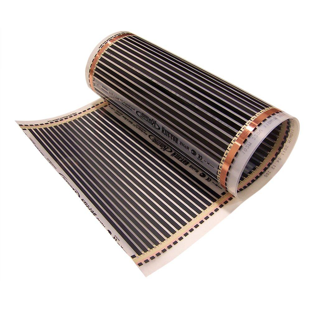 Idealheat 9 ft 10 in x 20 in 110 volt radiant floor for Mylar flooring