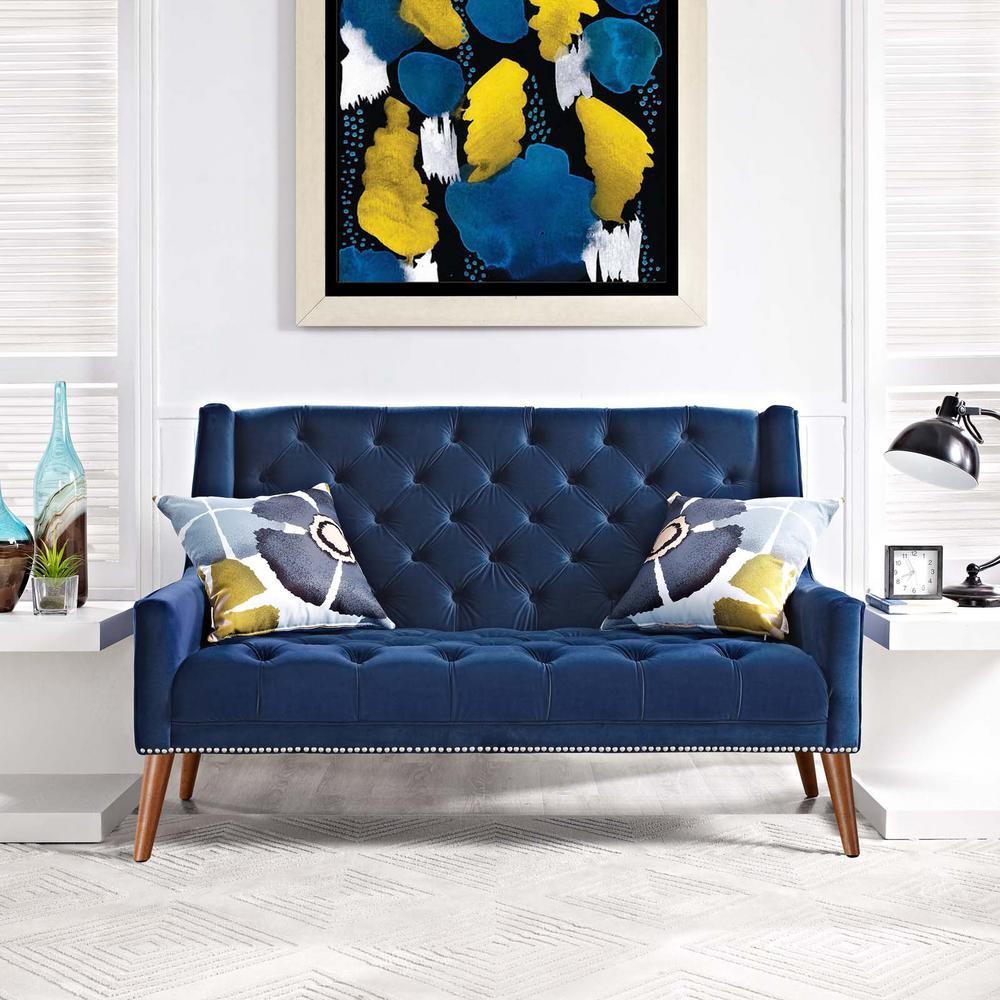 Velvet Mid Century Modern Fabric Sofas Loveseats Living