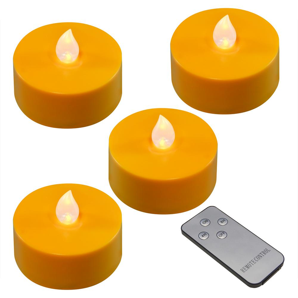 Lumabase Battery Orange Operated Extra Large Tea Lights with Remote Control and 2-Timers (4-Count) was $27.99 now $17.99 (36.0% off)