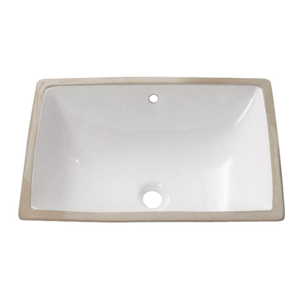 Undermount Bathroom Sink in White