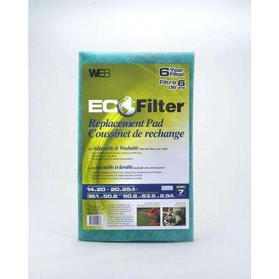 20 in. x 25 in. x 1 in. Washable Replacement FPR 4 Filter Pad