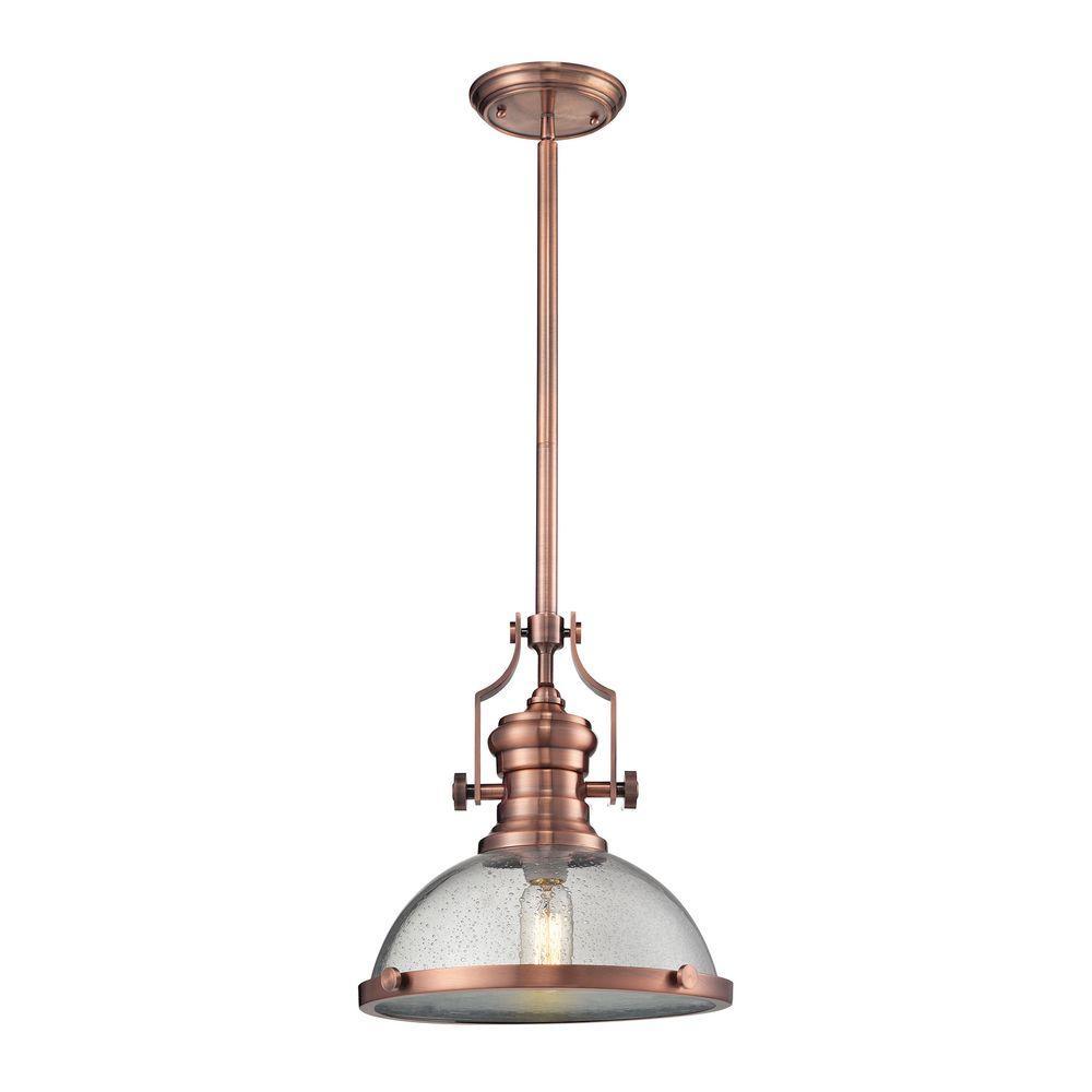 Chadwick 1-Light Copper Pendant  sc 1 st  The Home Depot & Copper - Pendant Lights - Lighting - The Home Depot azcodes.com