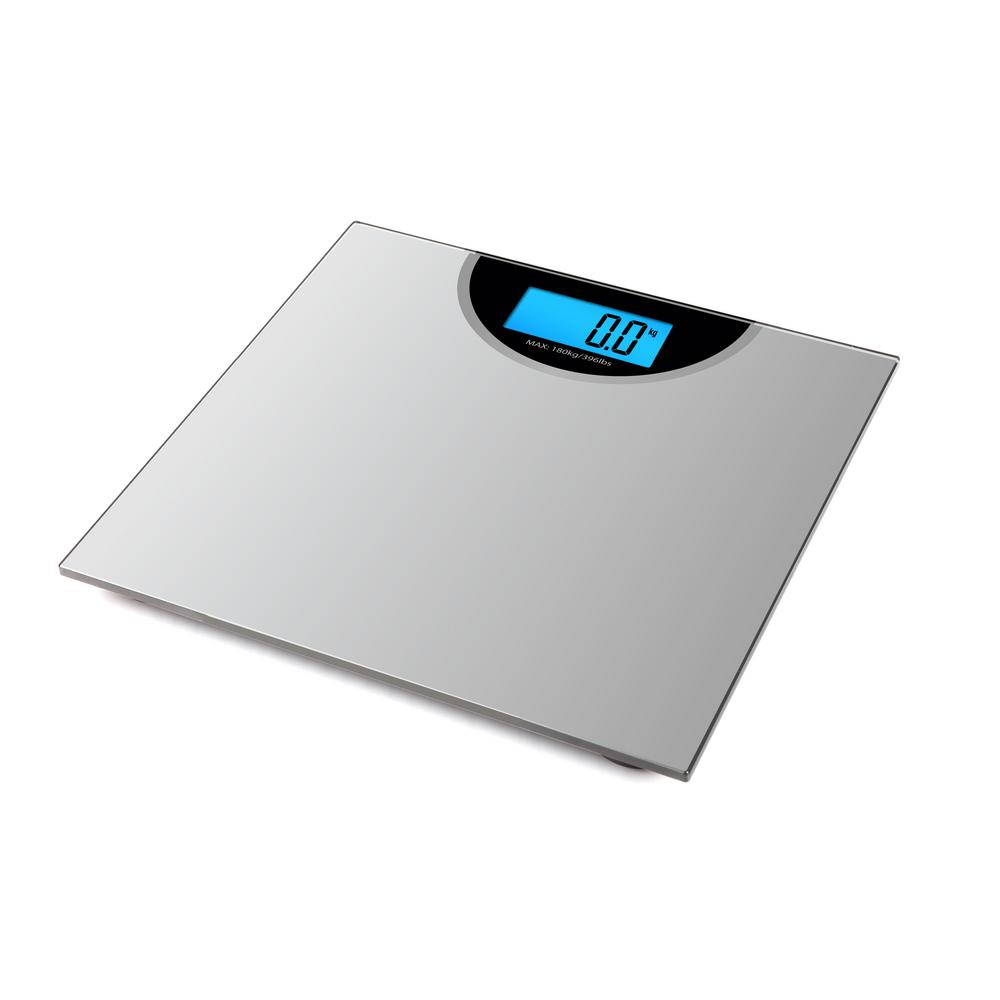 Coby Digital Weight Comparison Bathroom Scale with Color Changing Display
