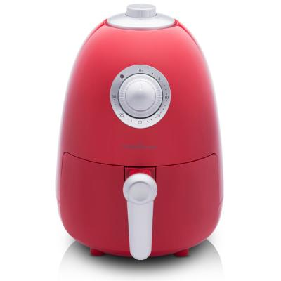 2.1 Qt. Compact Electric Air Fryer with Color Recipe Book - Fresh Red