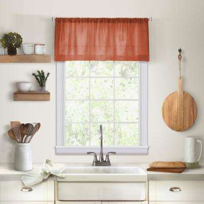 Elrene Cameron Single Window Kitchen Valance in Spice - 60 in. W x 15 in. L