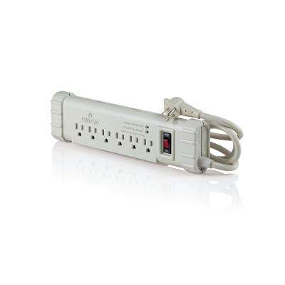 15 Amp Office Grade Surge Protected 6-Outlet Power Strip, 1010 Joules, On/Off Switch, 6 Foot Cord, Beige