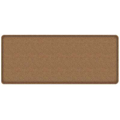 Classic Quill Toast 20 in. x 48 in. Comfort Kitchen Mat