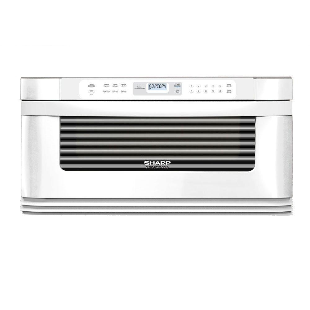 Sharp Insight 1.0 cu. ft. Countertop Microwave in White with Sensor Cooking-DISCONTINUED