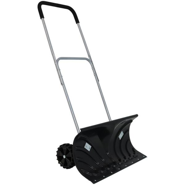 26 in. Aluminum Handle Rolling Snow Pusher