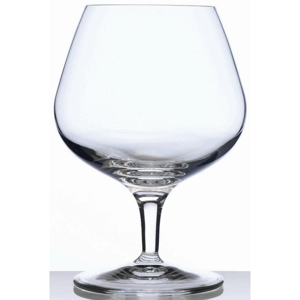 Michelangelo Masterpiece 13.25 fl. oz. Lead-Free Ultra Clear Glass Cognac Glass (4-Pack)