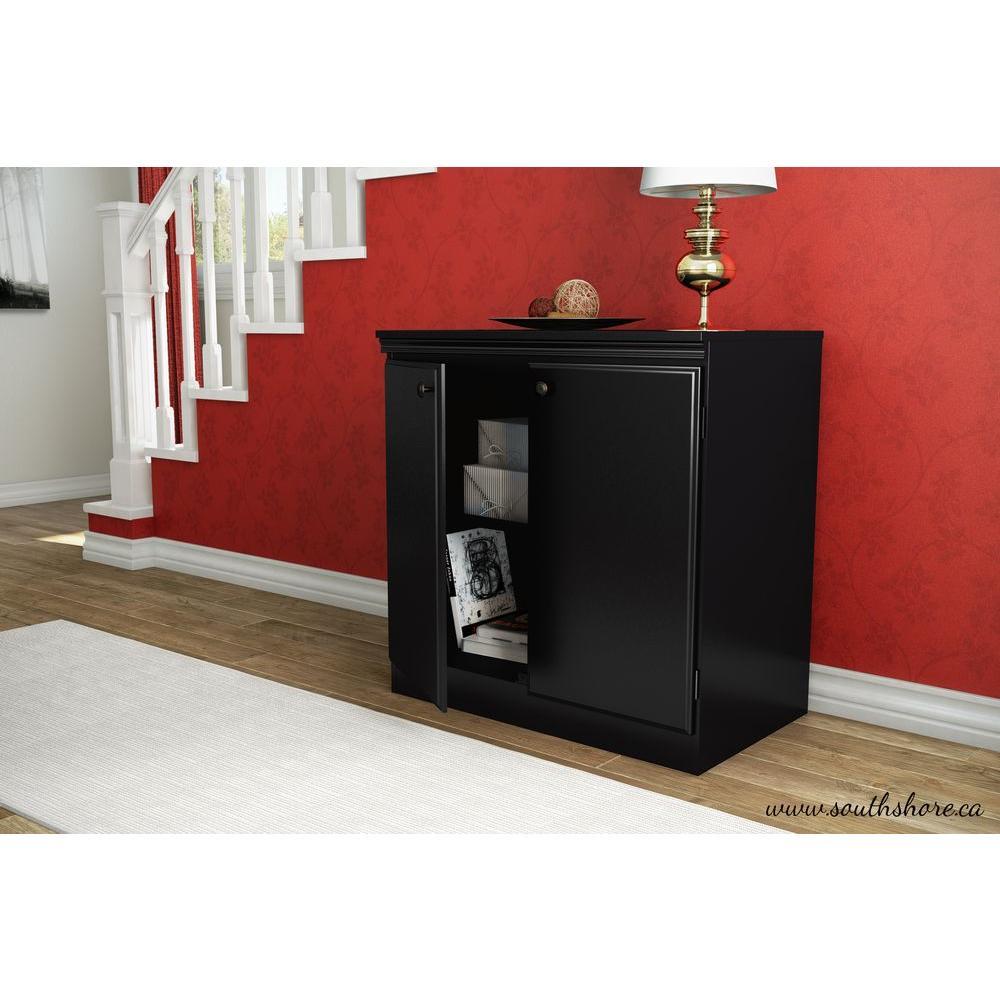 Morgan Pure Black Storage Cabinet