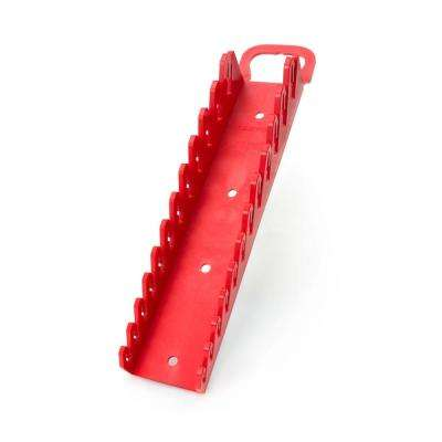 2.3 in. 12-Tool Store-and-Go Stubby Wrench Rack Keeper in Red