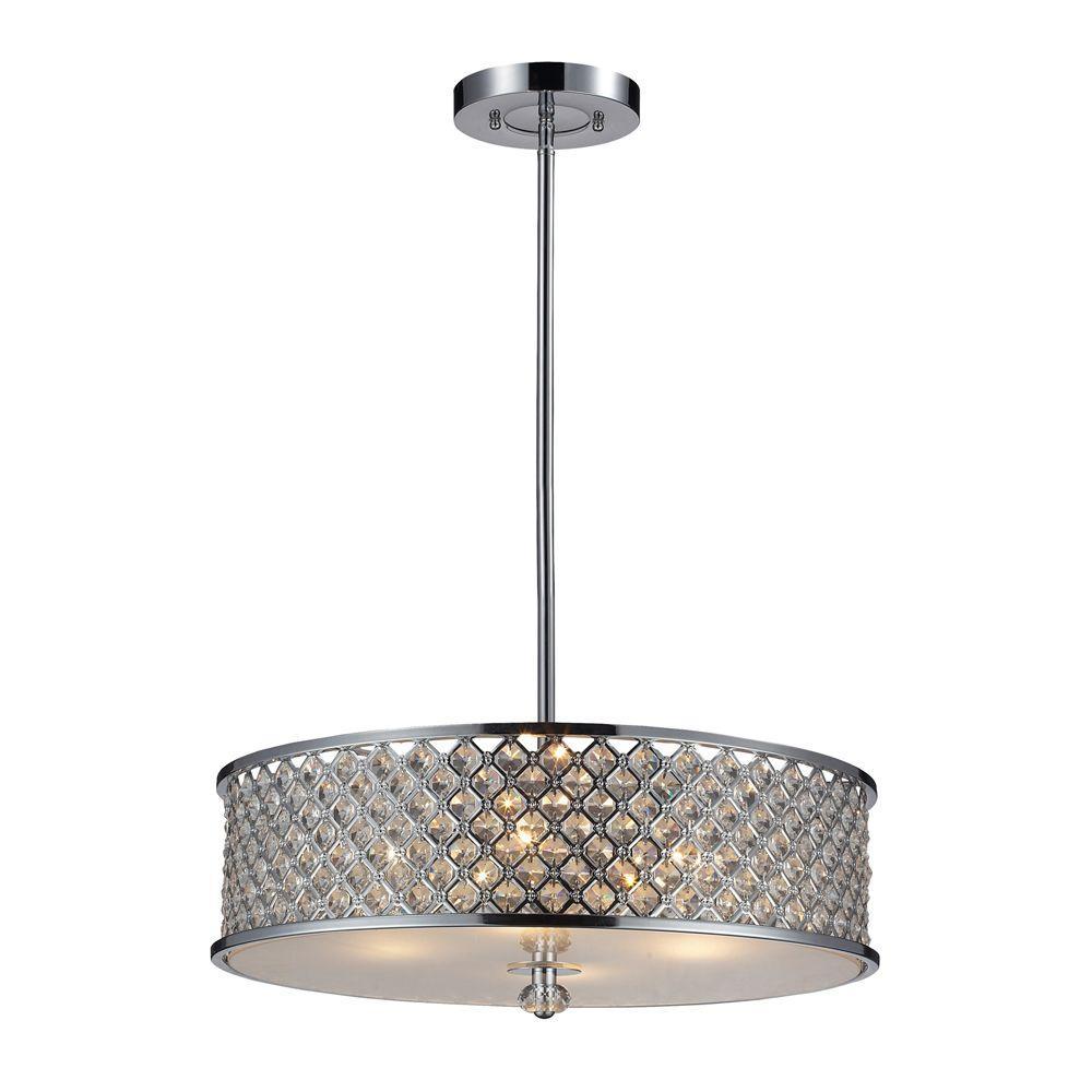 Genevieve 4-Light Polished Chrome Ceiling Pendant
