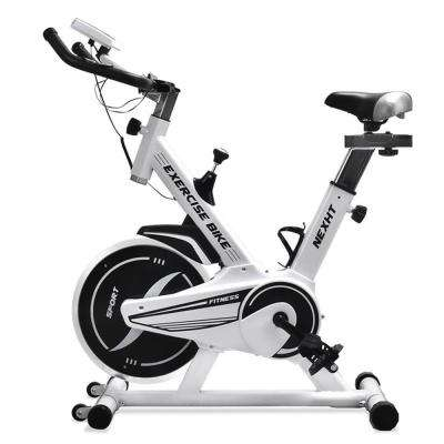 Fitness Sport Exercise Bike with LCD Display and Heart Pulse Sensors in White