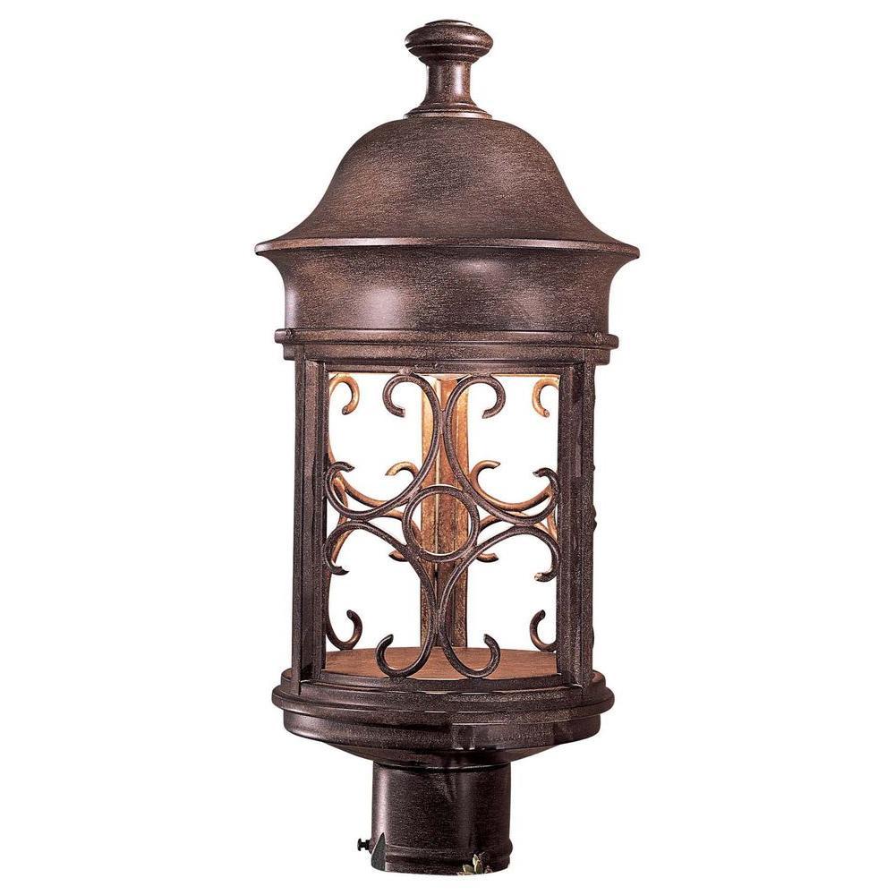 Sage Ridge 1-Light Vintage Rust Outdoor Post Lantern