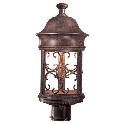 Sage Ridge 1-Light Vintage Rust Outdoor Post Lantern