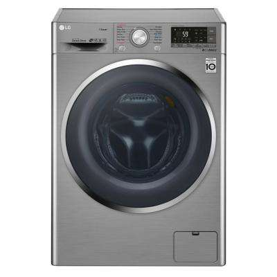 2.3 cu. ft. Graphite Steel Compact Smart All-in-One Front Load Washer and Electric Ventless Dryer Combo with Steam