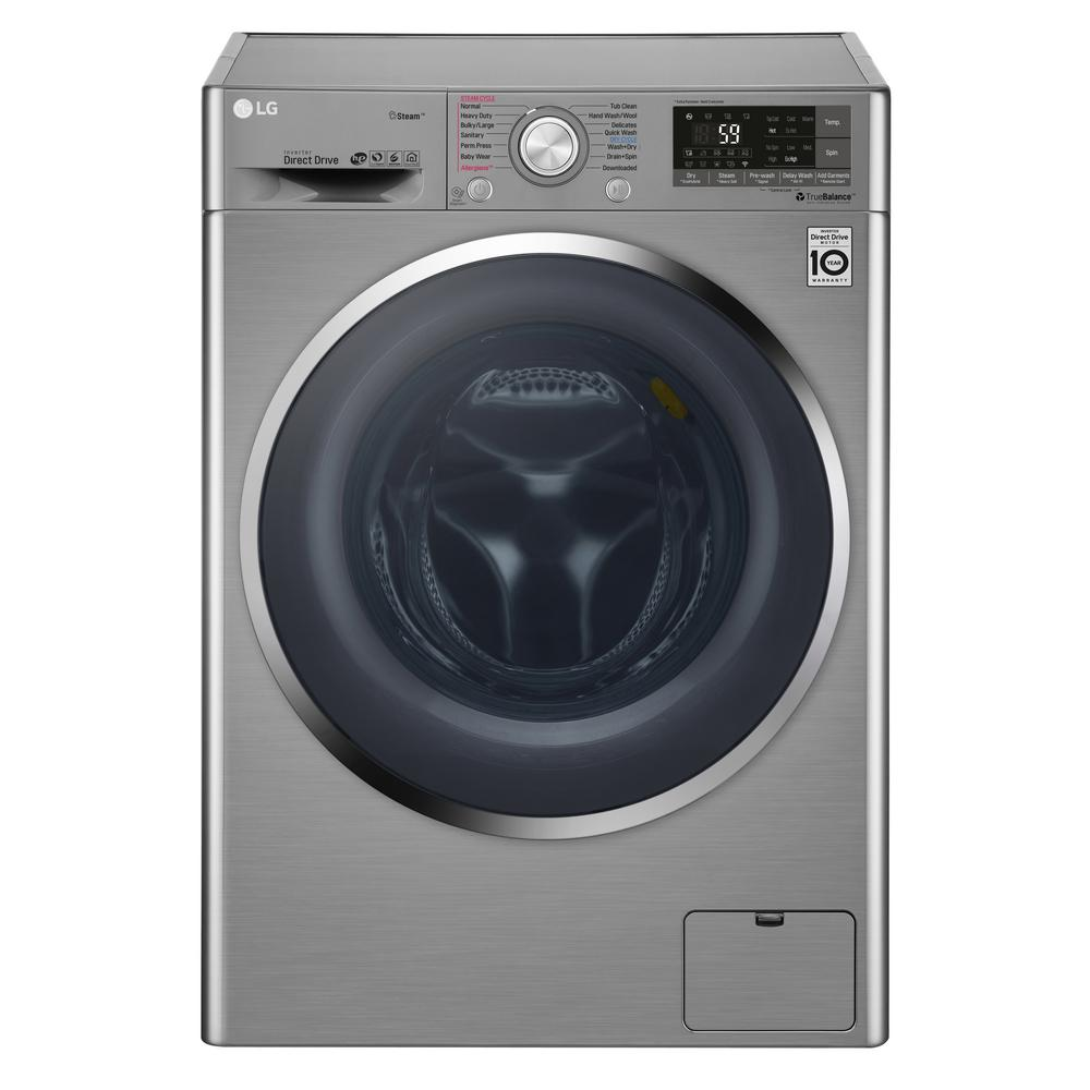 Lg Electronics 2 3 Cu Ft All In One Graphite Steel Front Load Electric Washer And Ventless Dryer Combo