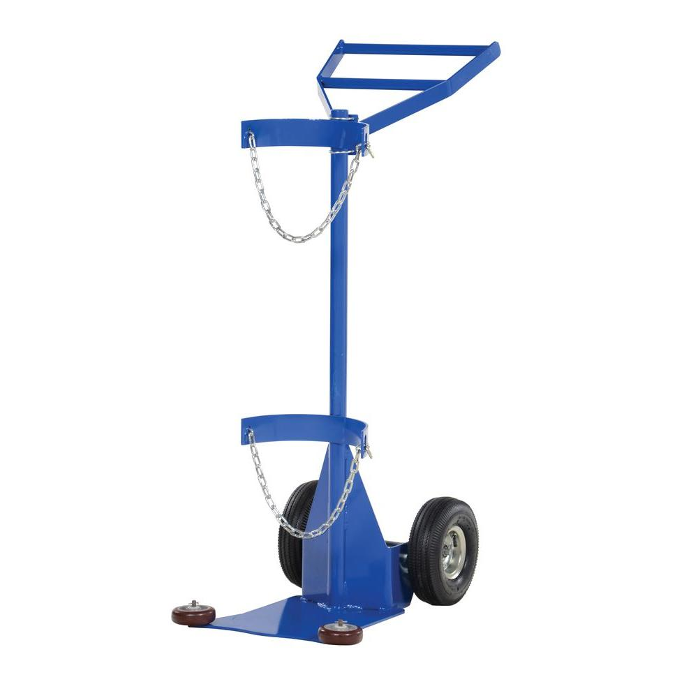 Vestil Deluxe Steel Cylinder Dolly with Pneumatic Wheels