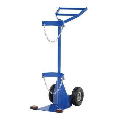 Deluxe Steel Cylinder Dolly with Pneumatic Wheels