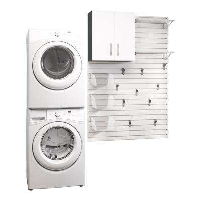 Modular Laundry Room Storage Set with Accessories in White (16-Piece)