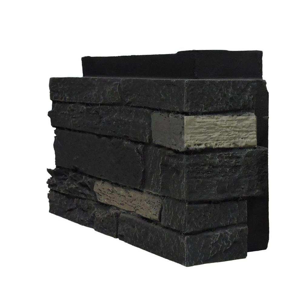 Slatestone Onyx 4.5 in. x 12.75 in. Faux Stone Siding Corner (4-Pack)