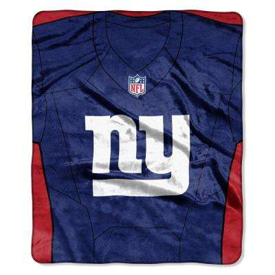 NY Giants Jersey Raschel Throw
