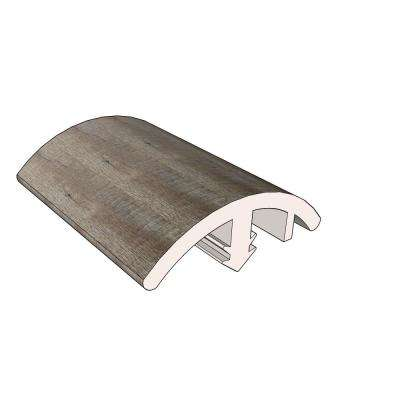 Alamo 0.51 in. Thick x 1.42 in. Wide x 72.05 in. Length Vinyl Overlap Reducer Molding