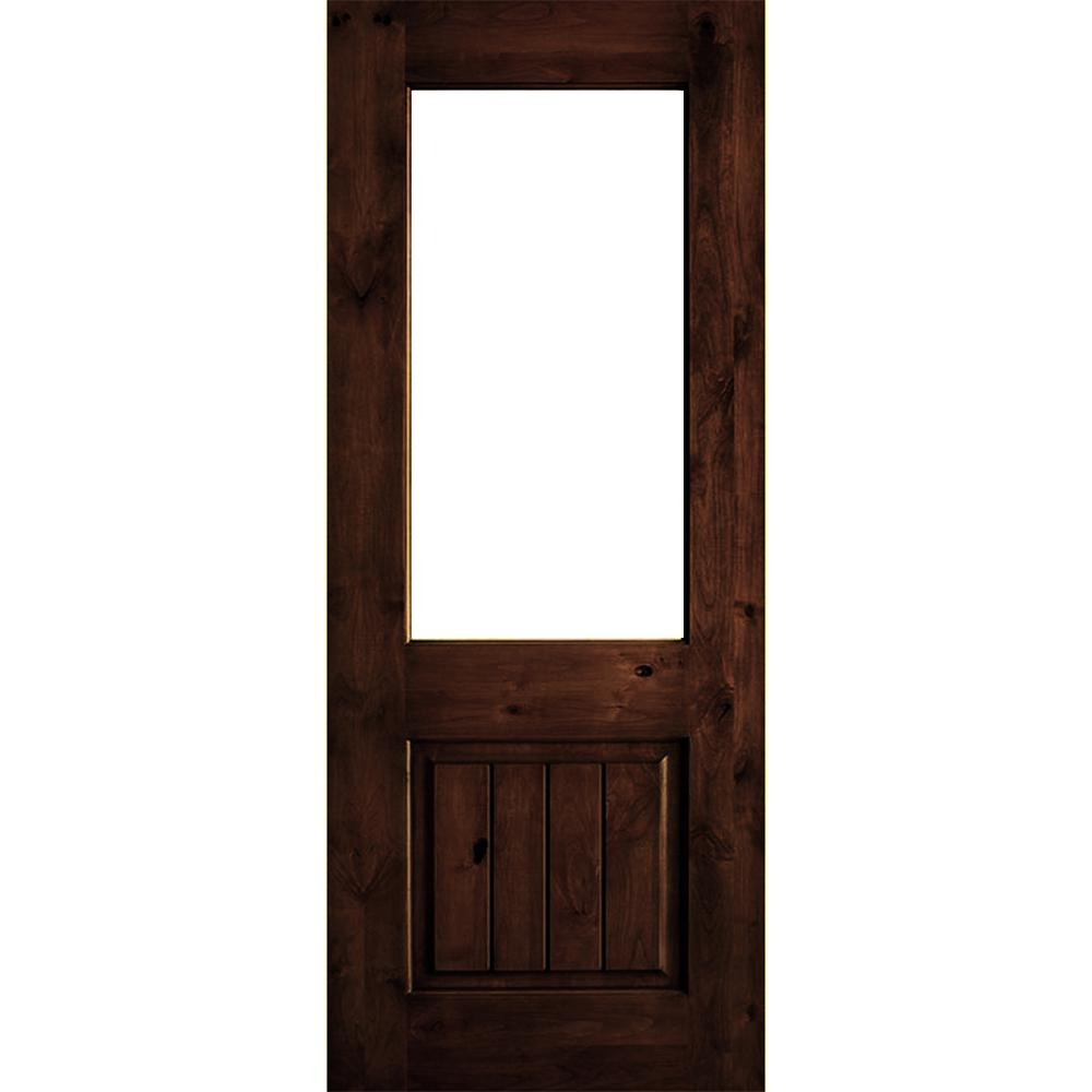 Krosswood Doors 30 In X 80 In Rustic Knotty Alder 2: Krosswood Doors 36 In. X 80 In. Rustic Knotty Alder Wood