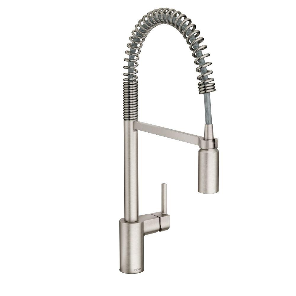 Moen Align Single Handle Pull Down Sprayer Kitchen Faucet With Power Clean In Spot