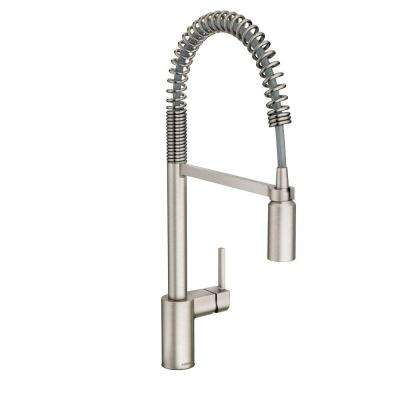 Align Single-Handle Pull-Down Sprayer Kitchen Faucet with Power Clean in Spot Resist Stainless