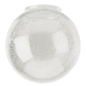 6 in. Handblown Clear Seeded Globe with 3-1/4 in. Fitter