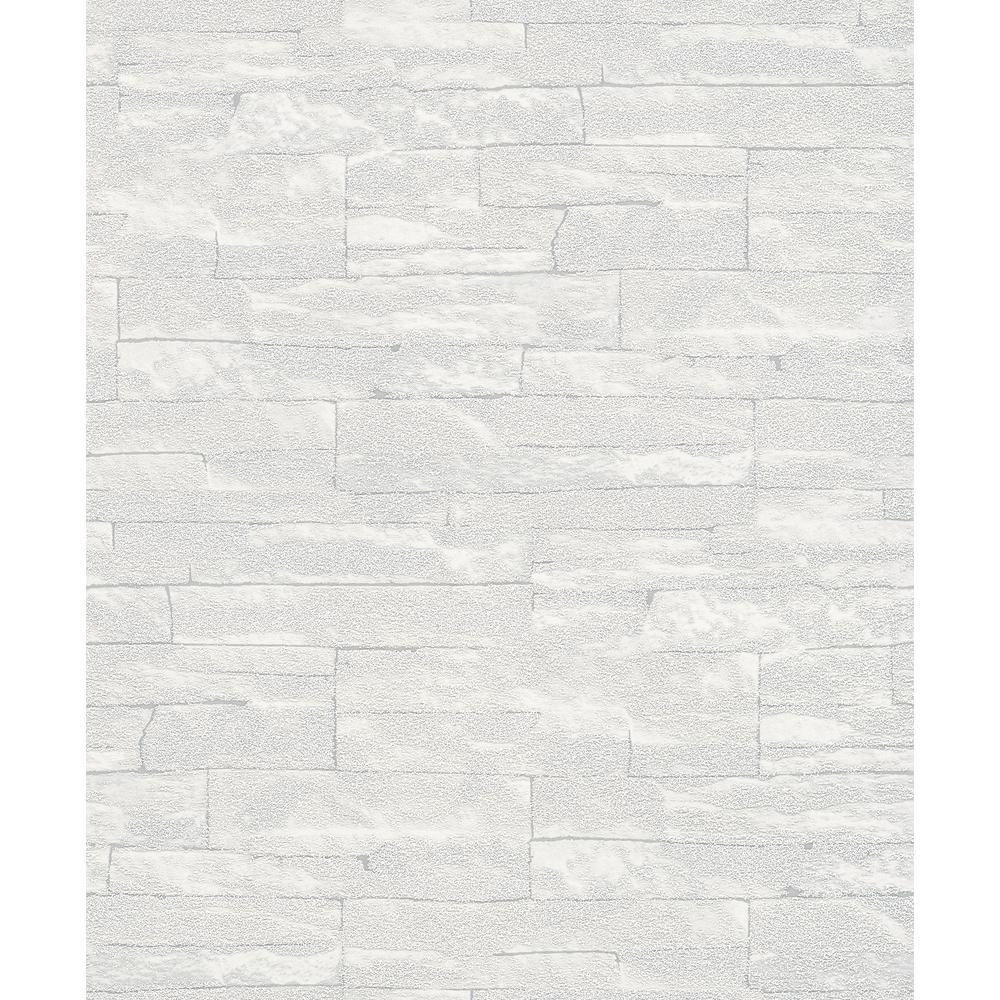 8 in. x 10 in. Rheta Grey Stone Wallpaper Sample