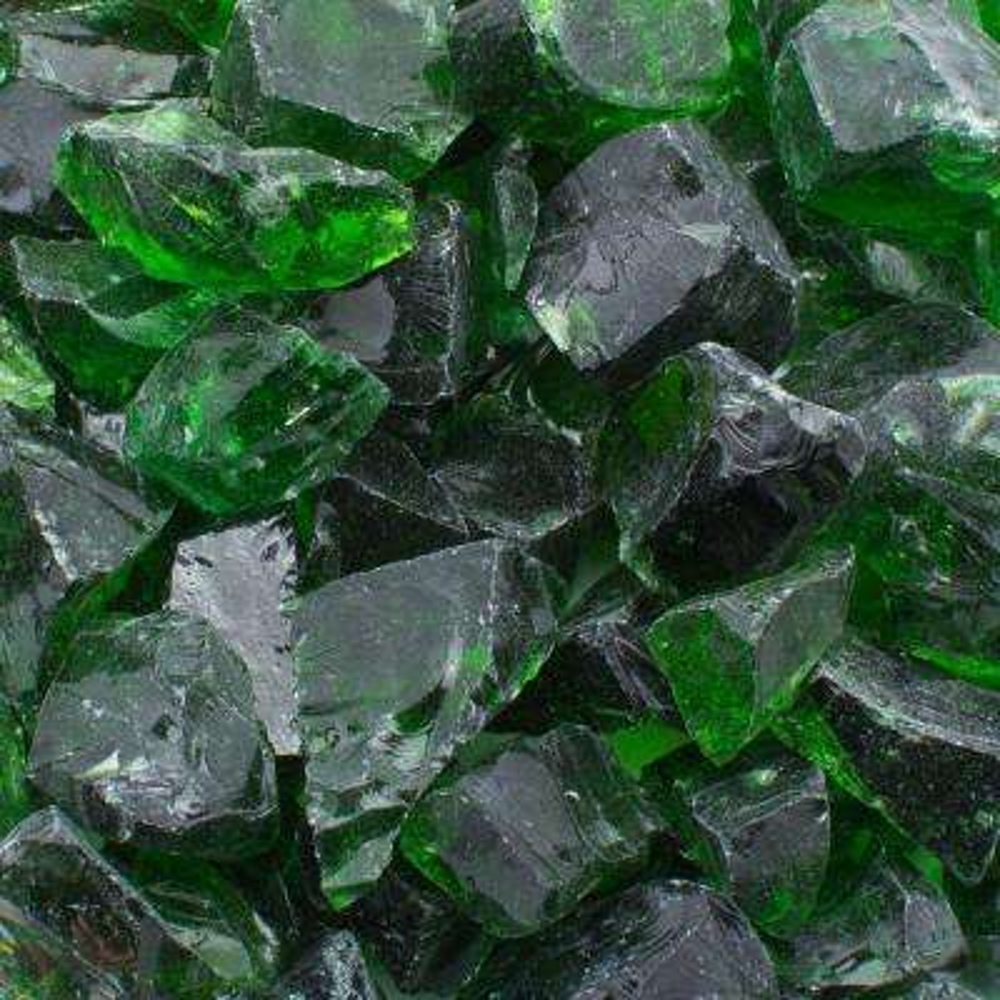 1/2 in. 25 lb. Medium Green Landscape Fire Glass