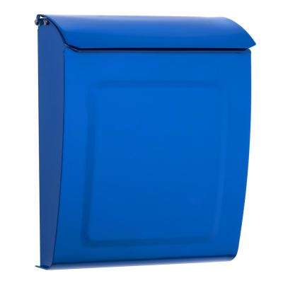 Aspen Locking Wall Mount Mailbox Blue