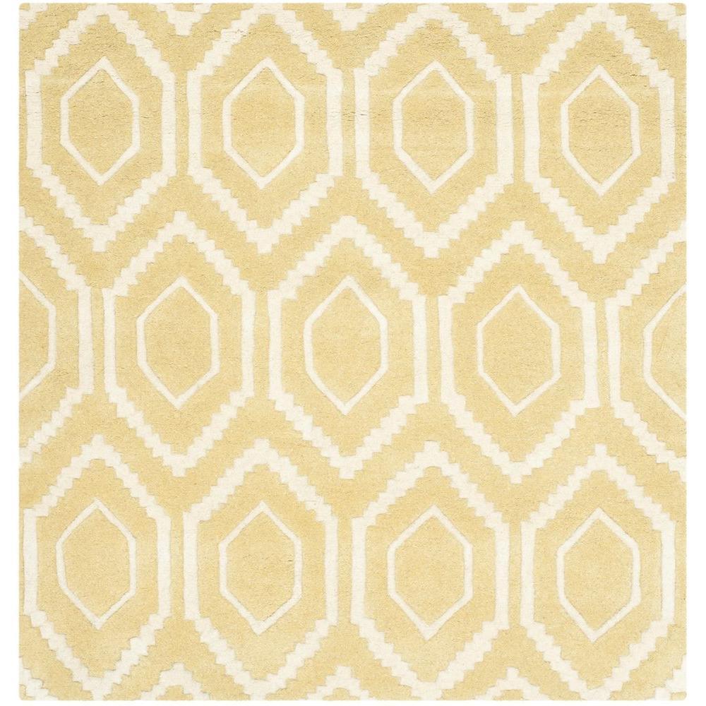 Safavieh Chatham Light Gold Ivory 4 Ft X 4 Ft Square
