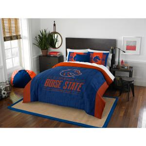 Boise State 3-Piece Modern Take Multi Full/Queen Comforter Set by