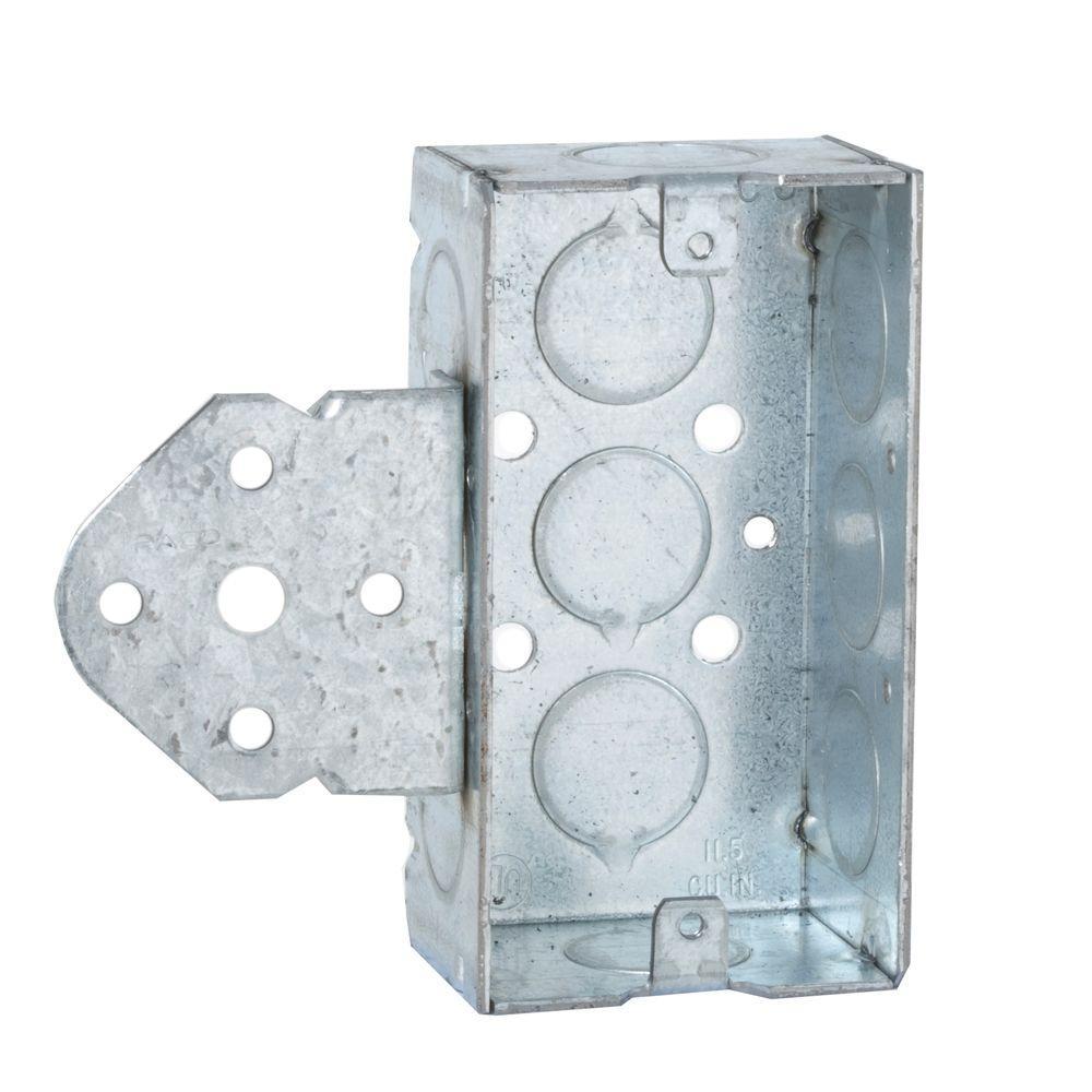 Raco Single Gang Welded Handy Box 1 1 2 In Deep With 1 2