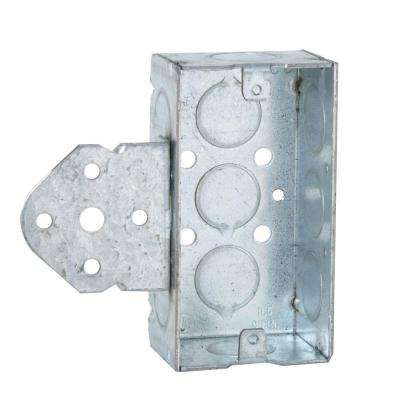 Single Gang Welded Handy Box, 1-1/2 in. Deep with 1/2 in. KO's and B Bracket (50-Pack)