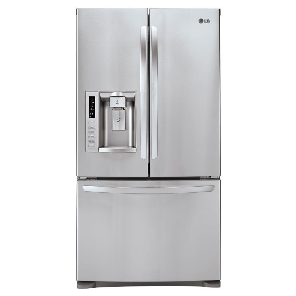 LG Electronics 27.6 cu. ft. French Door Refrigerator in Stainless Steel-DISCONTINUED