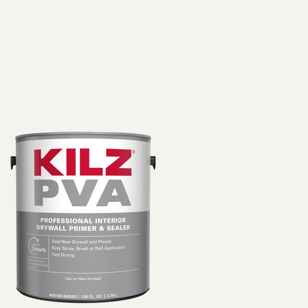 Kilz Pva 1 Gal White Interior Drywall Primer Px01001 The Home Depot