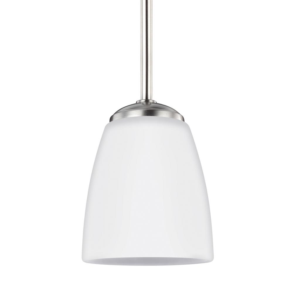 Bannock 1-Light Brushed Nickel Pendant