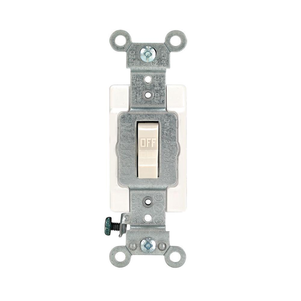 Leviton 20 Amp Preferred Toggle Switch, Light Almond-R56