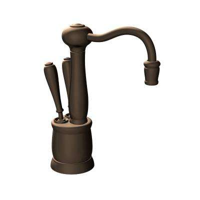 Indulge Antique 2-Handle Instant Hot and Cold Water Dispenser Faucet in Mocha Bronze