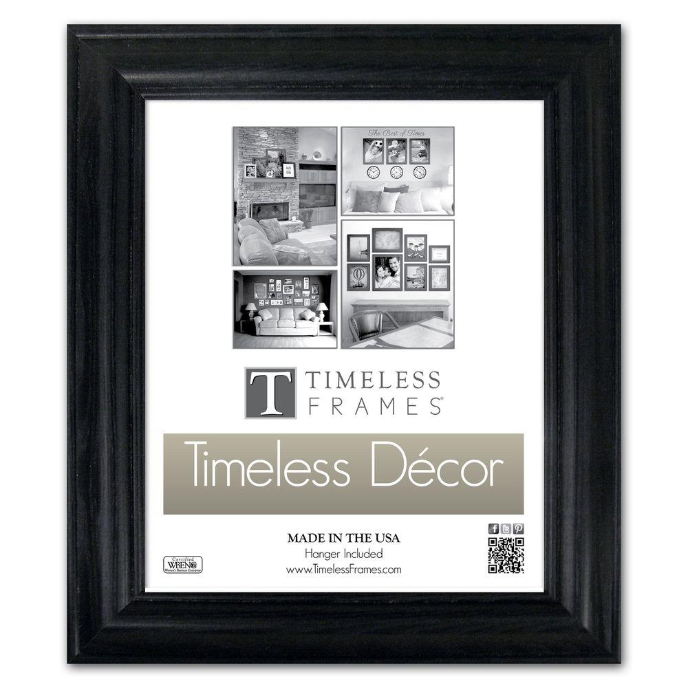 Timeless Frames Brenna 1-Opening 10 in. x 13 in. Black Picture Frame ...