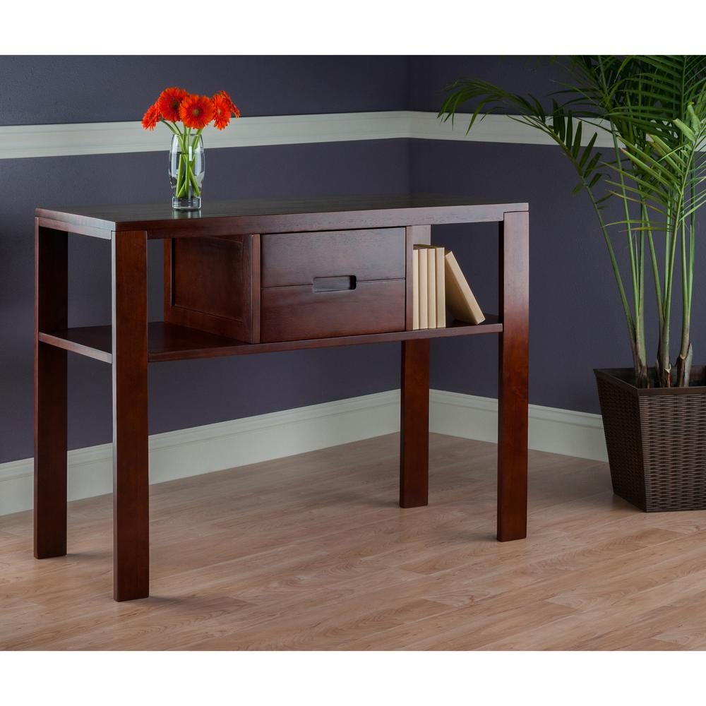 Winsome Wood Bora Walnut Console Table-94743 - The Home Depot