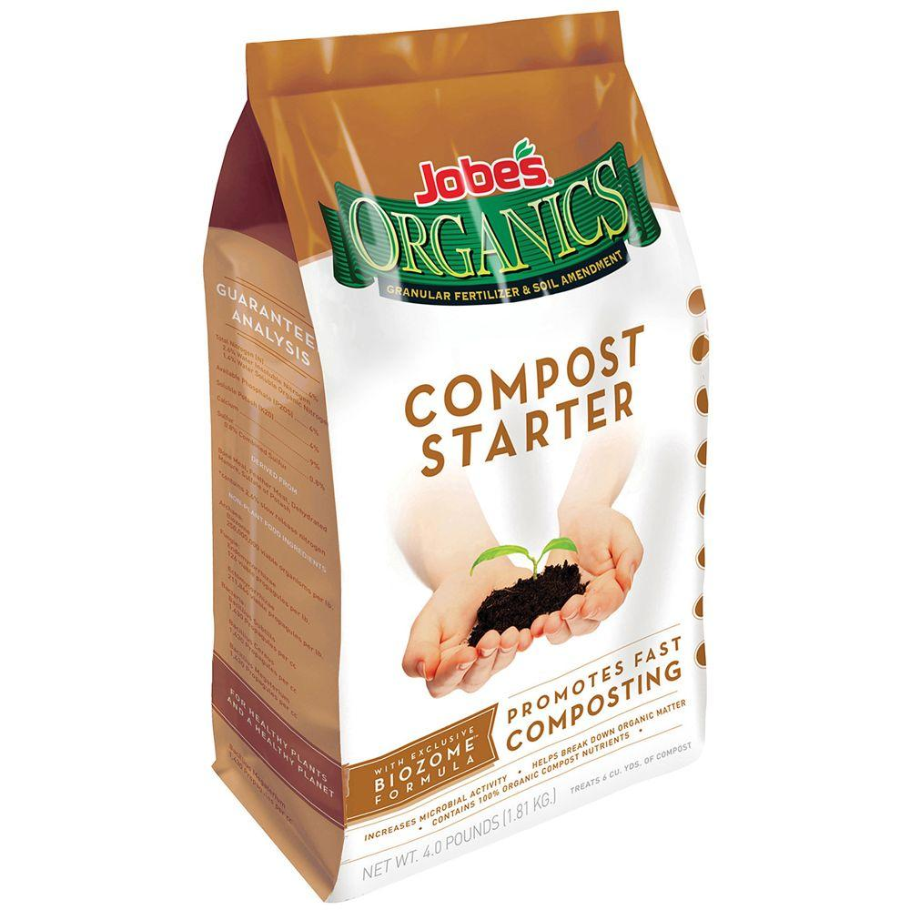 Jobe's Organics 4 lb. Organic Compost Starter with Biozome, OMRI Listed