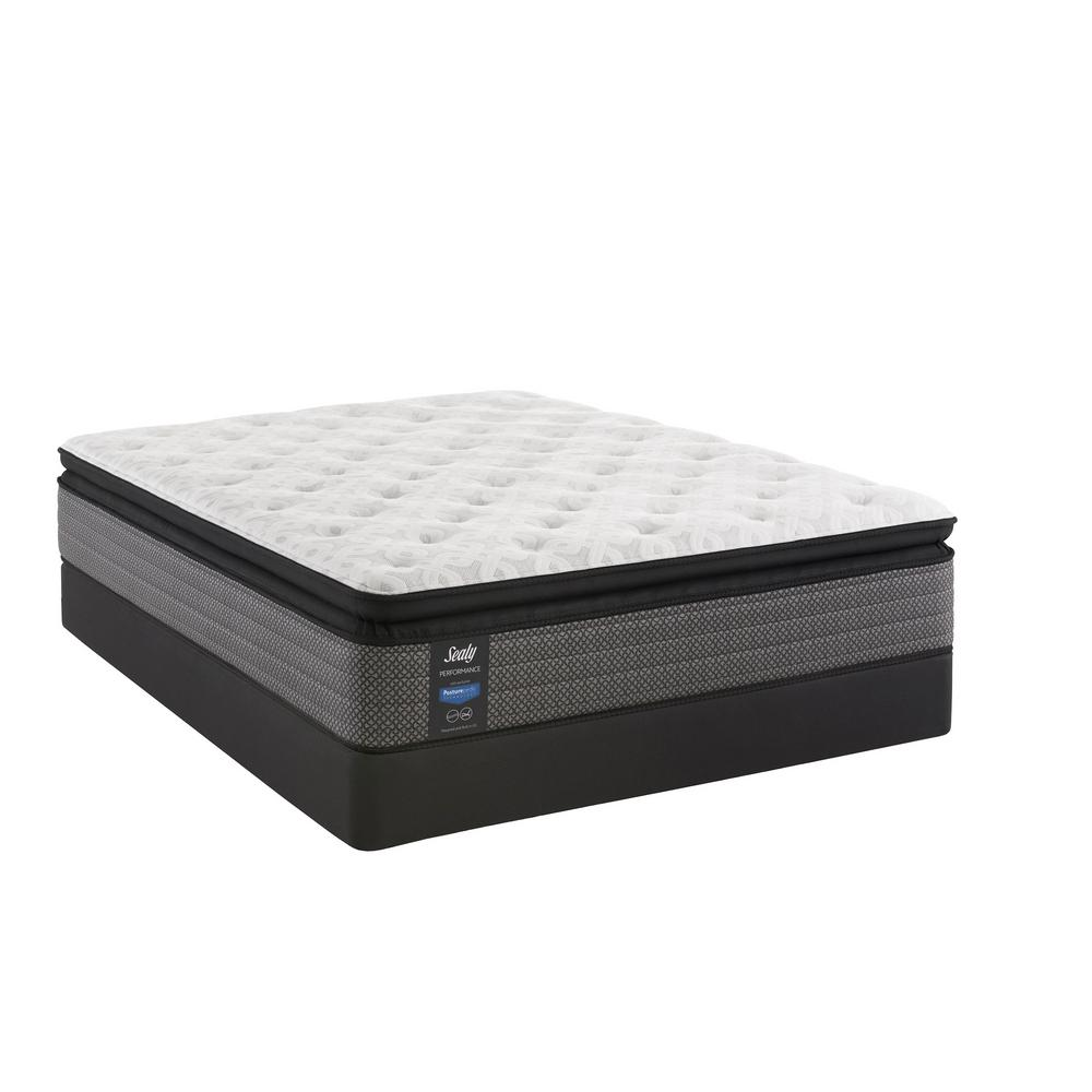 Sealy Response Performance 13 5 In Queen Cushion Firm Euro Pillowtop Mattress Set With 9