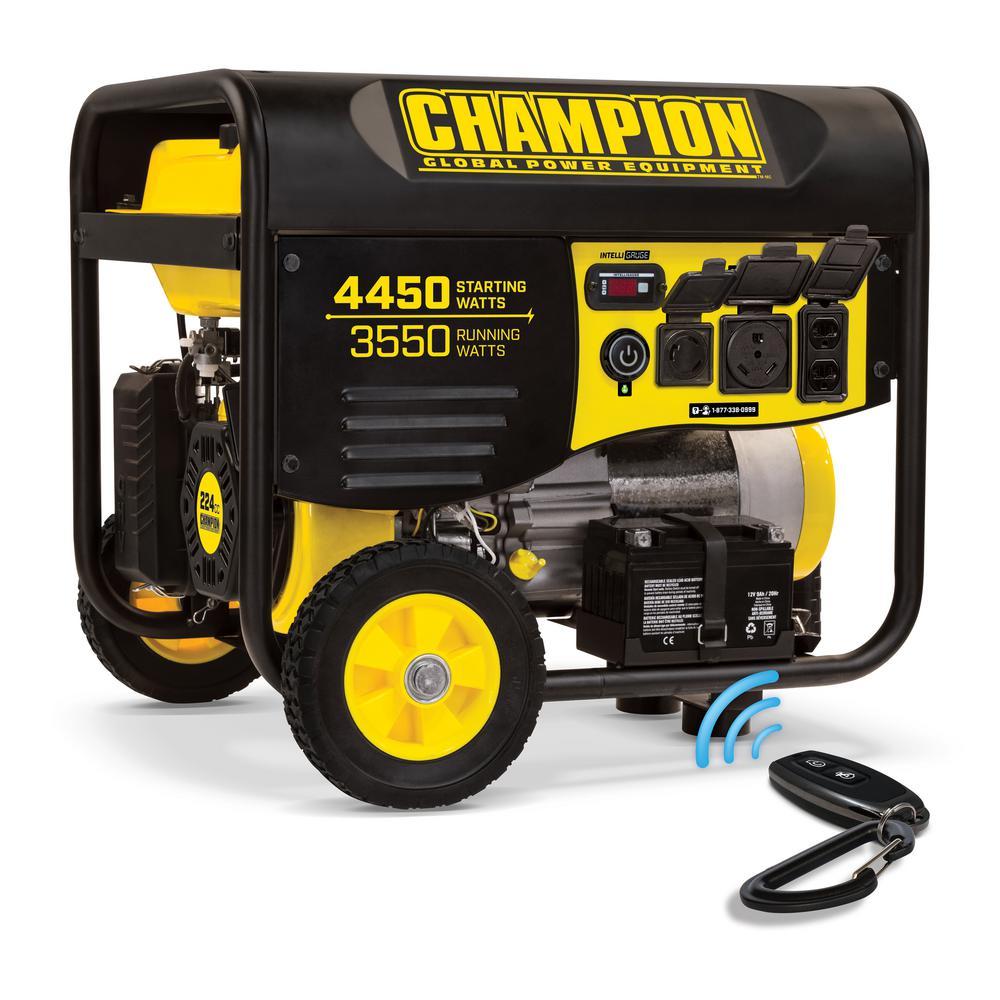 Champion Power Equipment 3550-Watt Gasoline Powered Push Start Portable  Generator with Champion 224cc Engine
