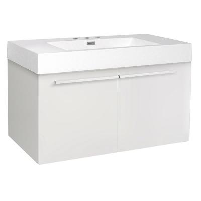 Vista 36 in. Bathroom Vanity Cabinet Only in White